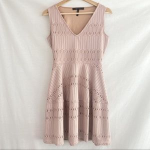 BCBGMaxAzria Nude Pink Cutout Dress